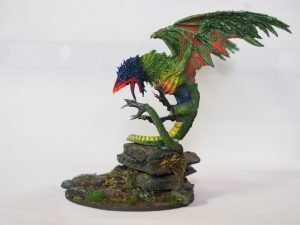 Rainbow lorikeet cockatrice miniature model