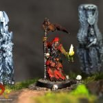 Avatar of War necromancer mini painted by melbourne mini painter