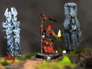 Avatar of War necromancer mini painted by melbourne mini painter