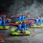 5 miniature dinosaur models handpainted