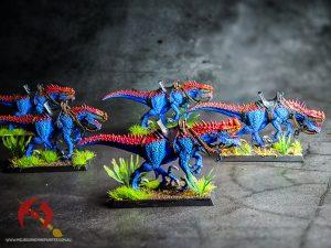 5 miniature dinosaur models handpainted