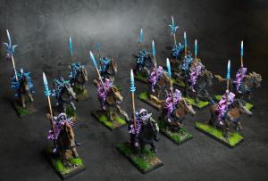 Dark Elf Dark Riders Miniatures from Warhammer painted by Melbourne Mini Painter