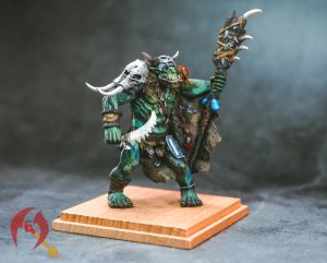 Orc Shaman Miniature painted by melbourne mini painter
