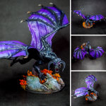 Nozlur's black dragon painted by melbourne mini painter