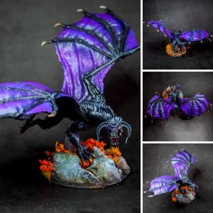 Nozlur's black dragon painted by melbourne mini painter