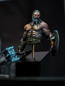 The old viking painted by Melbourne Mini Painter, sculpted by Black Sun Miniatures