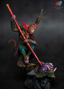 Sun Wukong, The Monkey King Display Model painted by Melbourne Mini Patiner