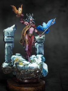 Frost Giant Queen from Archvillain Games printed and painted by Melbourne Mini Painter for the #AVGICICLE competition