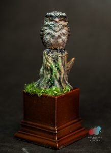Tawny Frog Mouth Model Painted by Melbourne Mini Painter