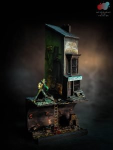 Dr Jekyll diorama painted and crafted by Melbourne Mini Painter