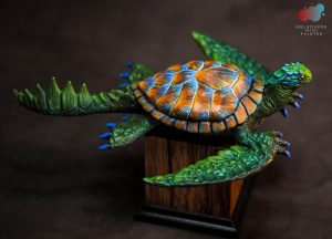 Photo of Dragon Turtle model sculpted by Labradoritewolf and painted by Melbourne Mini Painter