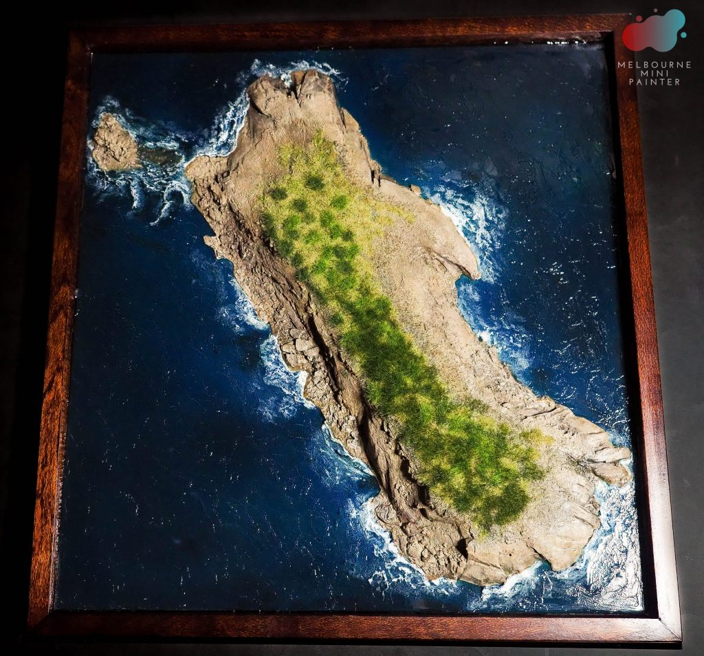 Kanowna Island as painted by Melbourne Mini Painter