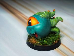 Baby Beholder model from Manuel Boria painted by Melbourne Mini Painter