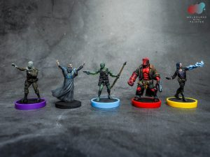 Hellboy Board Game Models Painted by Melbourne Mini Painter