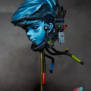 Shark Boy cyber miniature model painted by Melbourne mini painter