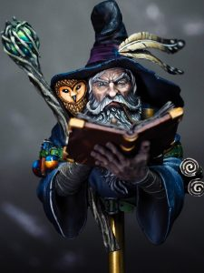 Octavius the wizard from Black Crow Miniatures painted by Melbourne Mini Painter