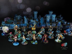 Kingdom Death Boardgame and pinups painted by Melbourne Mini Painter