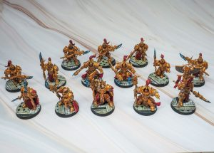 Adeptus Custodes as painted by Melbourne Mini Painter for warhammer 40k