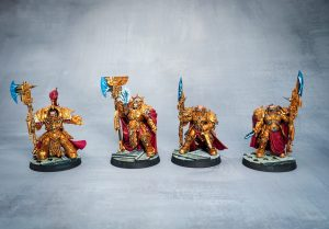 Adeptus Custodes from warhammer 40k as painted by Melbourne Mini Painter